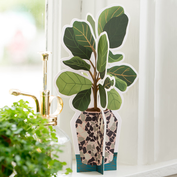 Fiddle Leaf Fig Paper Plant 2