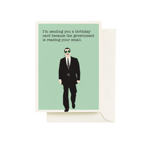 Government Spy Birthday Card