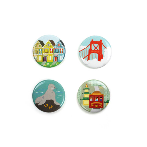 SF Sites Magnet Set