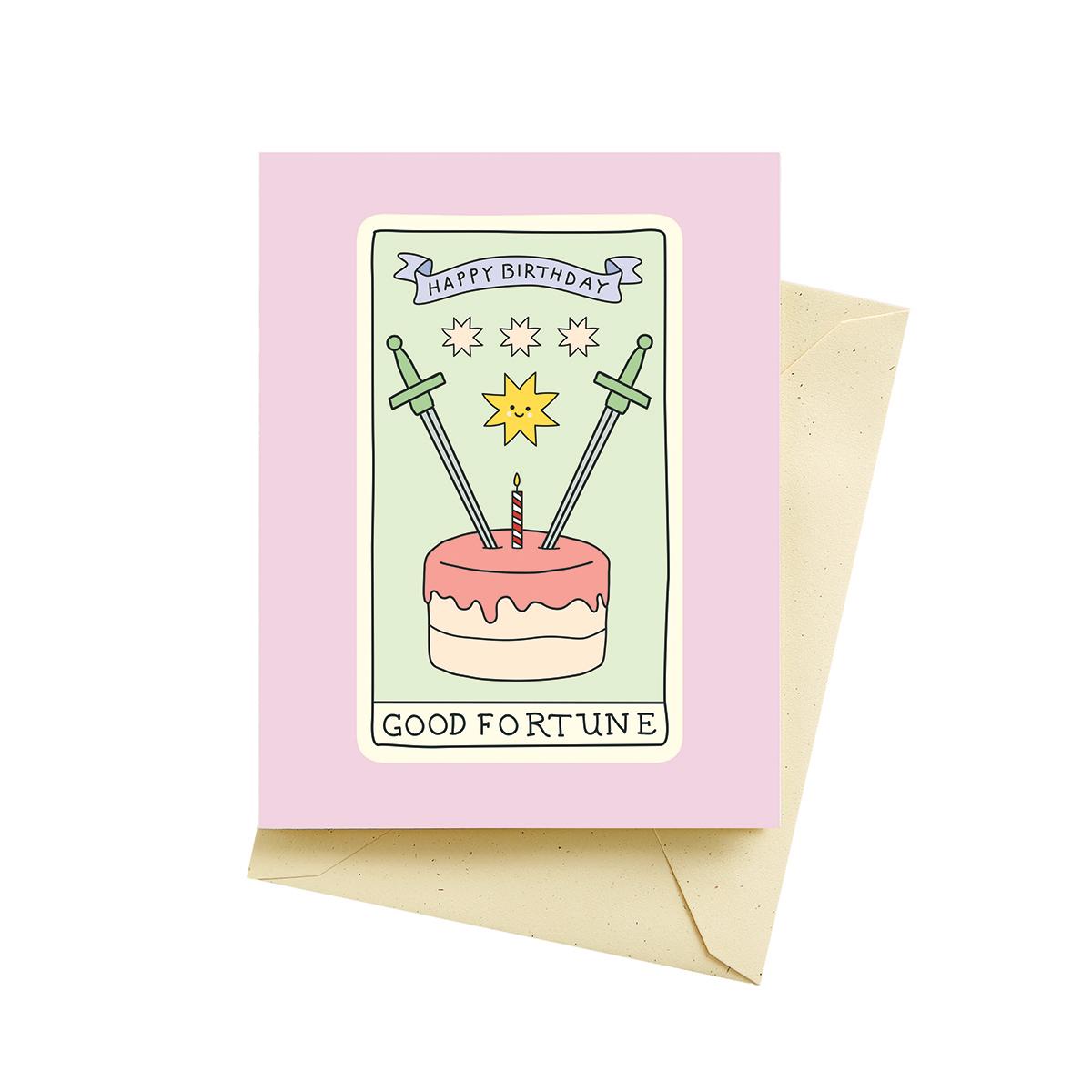Tarot Card Birthday Card