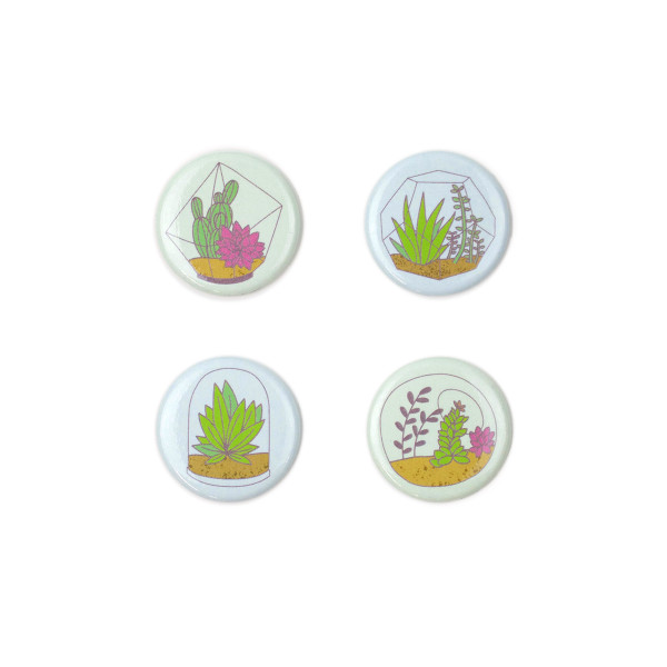 Terrariums Magnet Set 1