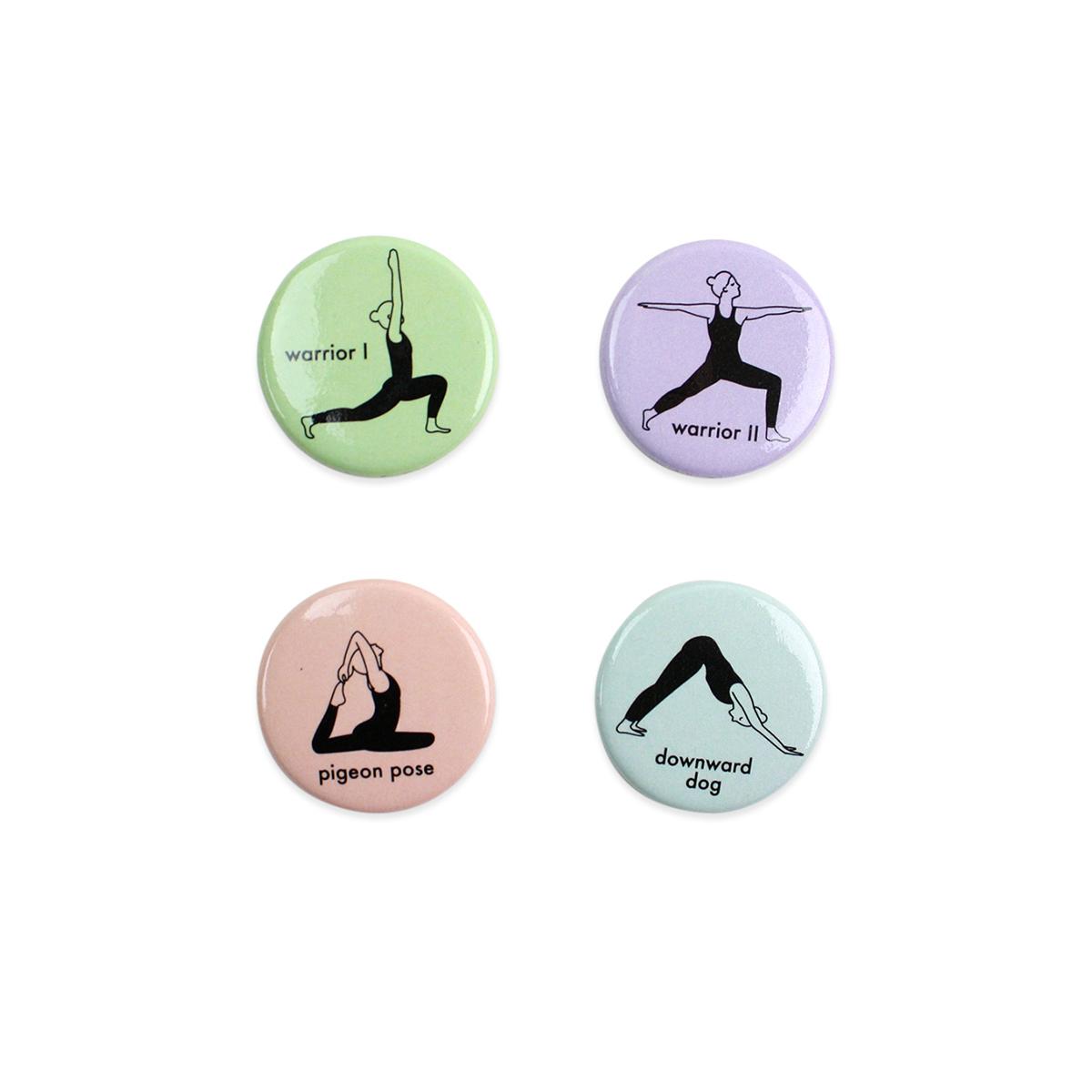Yoga Magnet Set